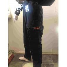 Arbeidsbukse, svart m/lomme for kneinnlegg