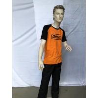 T-Skjorte Orange/Sort L