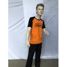 T-Skjorte, Oransje/Svart