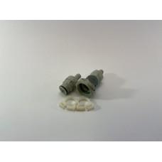 Syrekobling for slange 10mm (han+hun)
